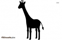 Giraffe Cartoon Silhouette Free Vector Art