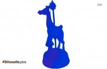 Cybis Carousel Giraffe Silhouette
