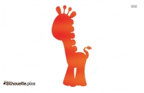 Giraffe Cartoon Silhouette, Clip Art