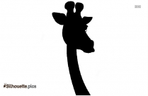 Black Cartoon Baby Giraffe Silhouette Image