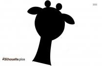 Giraffe Head Drawing Silhouette Image