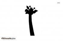 Giraffe Neck Silhouette Clipart