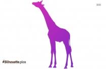 Giraffe Silhouette Clipart Image