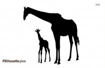 Giraffe Silhouette Image Vector