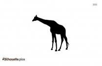 Giraffe Walking Silhouette Art