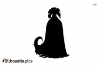 Silhouette Of Dog Sitting Image