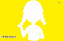 Girl Cartoon Image Clipart Silhouette