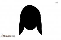 Girl Cartoon Silhouette, Short Girl Hairstyle Clipart