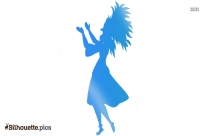 Girl Dancer Silhouette Image And Vector
