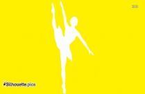 Ballerina Girl Symbol Silhouette