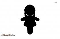 Chibi Girl Symbol Silhouette