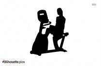 Girl Exercising Silhouette Image