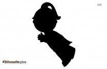 Girl Flying Silhouette Free Vector Art