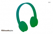 Headphone Silhouette Clipart