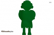 Young Woman Standing Silhouette Vector