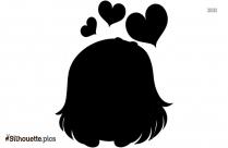 Girl In Love Silhouette
