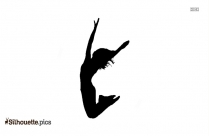 Girl Jumping Silhouette Background, Jumping Graphics