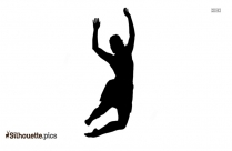 Happy Girl Silhouette Picture, Girl Jumping Logo