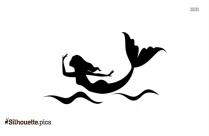 Cute Mermaid Silhouette Art