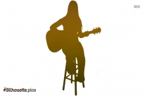 Black Girl Playing Guitar Silhouette Image