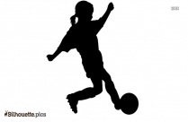 Boy Playing Soccer Silhouette Illustration
