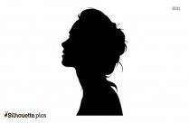Girl Profile Silhouette Drawing