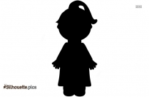 Girl Scientist Silhouette Drawing