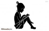 Girl Lamb Silhouette