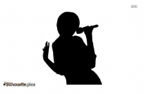 Girl Singing Silhouette Vector And Graphics