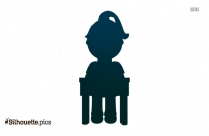 Person Sitting Stool Clipart Silhouette