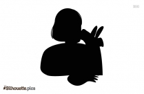 Girl Child Coloring Silhouette