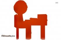 Girl Sitting Cartoon Silhouette