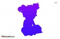 Girl Student Cartoon Silhouette Icon