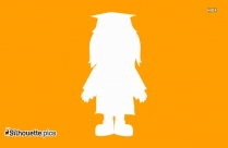 Girl Wearing Graduation Cap And Gown Clip Art Silhouette