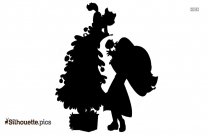 Xmas Tree Silhouette Drawing Image And Vector