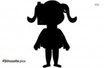 Cartoon Girl Silhouette Picture Art