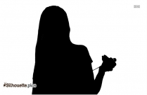 Black And White Girl Art Silhouette