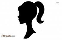 Girl With Ponytail Silhouette Picture