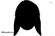 Girl With Short Hair Silhouette Image