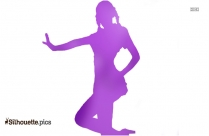 Woman Pushing Box Clipart Silhouette