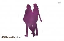 Ladies Silhouette Walking