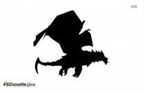 Dark Fire Dragon Silhouette Drawing