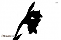 Lotus Flower And Bud Silhouette