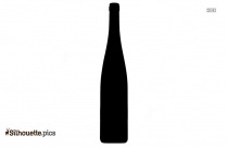 Liquid In Glass Bottle Silhouette
