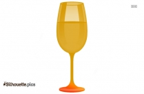 Glass Of Wine Silhouette Vector Image