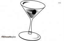 Glass With Drink Silhouette, Drinking Cup Black And White Clip Art
