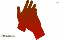 Winter Gloves Black Silhouette Illustration