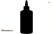 Glue Bottle Silhouette Free Vector Art