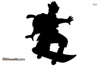 Stressed Woman Cartoon Silhouette