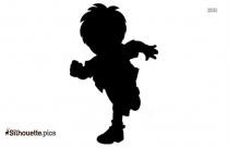 Cartoon Micky Mouse Silhouette Vector Image
